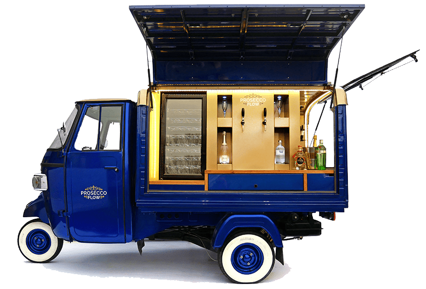 More than just coffee - we build mobile prosecco vans too